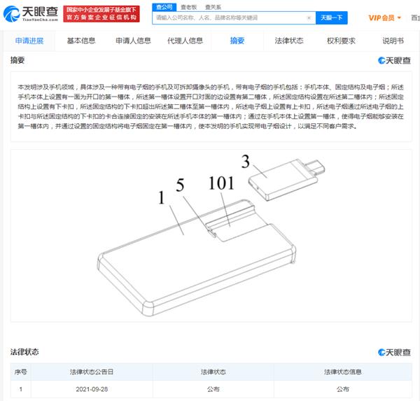 TCL公开带电子烟的手机专利,发明专利申请流程与时间是怎样的?