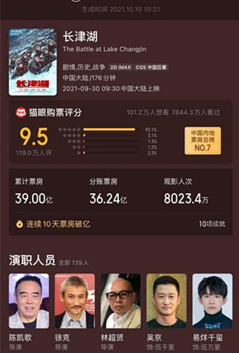 长津湖总票房破39亿,影视商标类别属于哪一项?