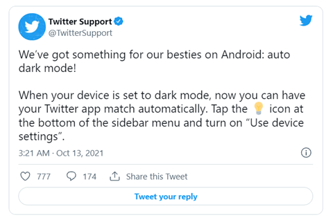 Twitter安卓版App终支持深色模式,App商标必须注册9类吗?